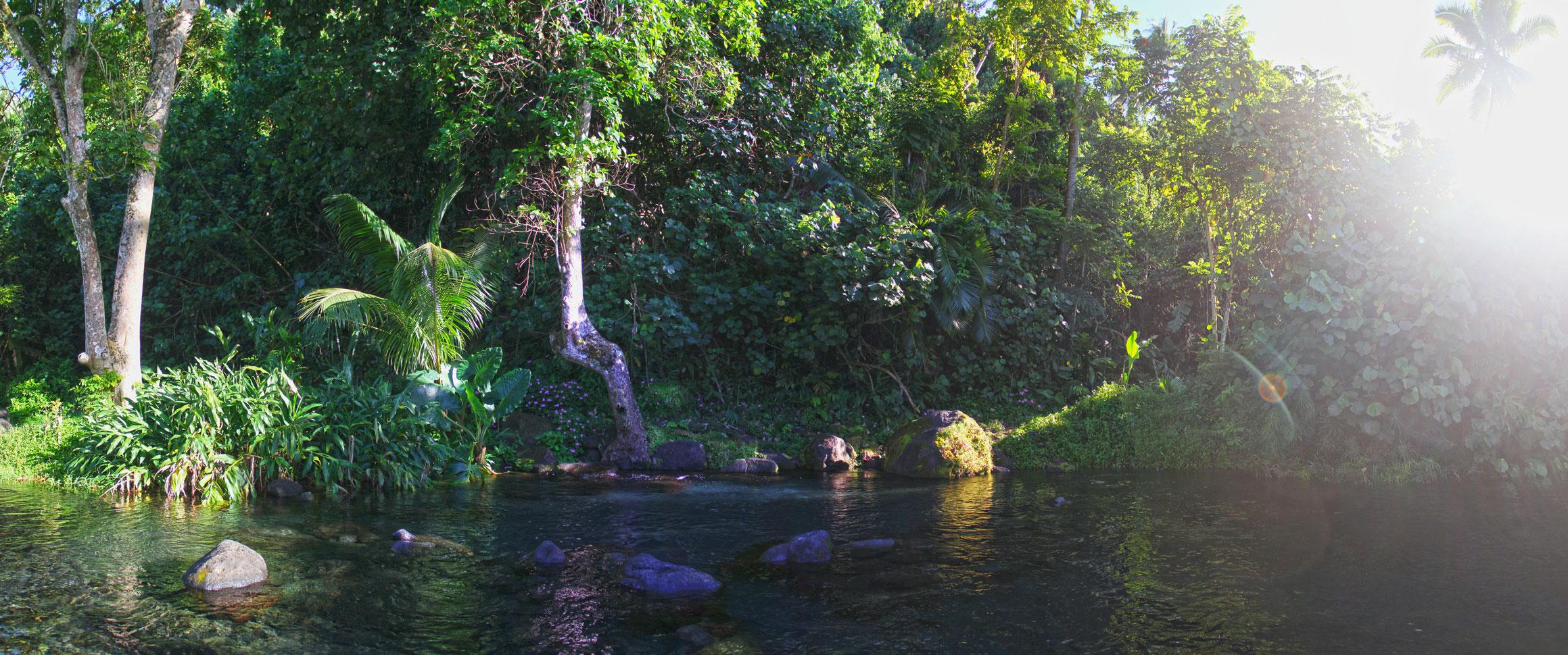 Photo panoramique de la source Vaima